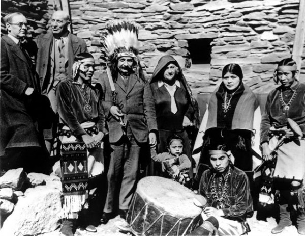 Einstein-visits-Hopi-House