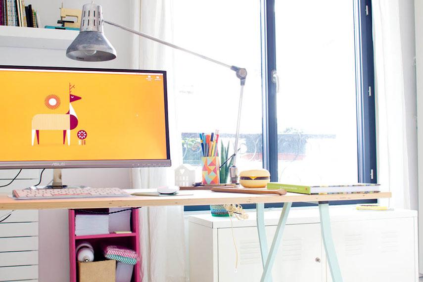 Vert cerise - mon bureau Ikéa à 13 euros-2
