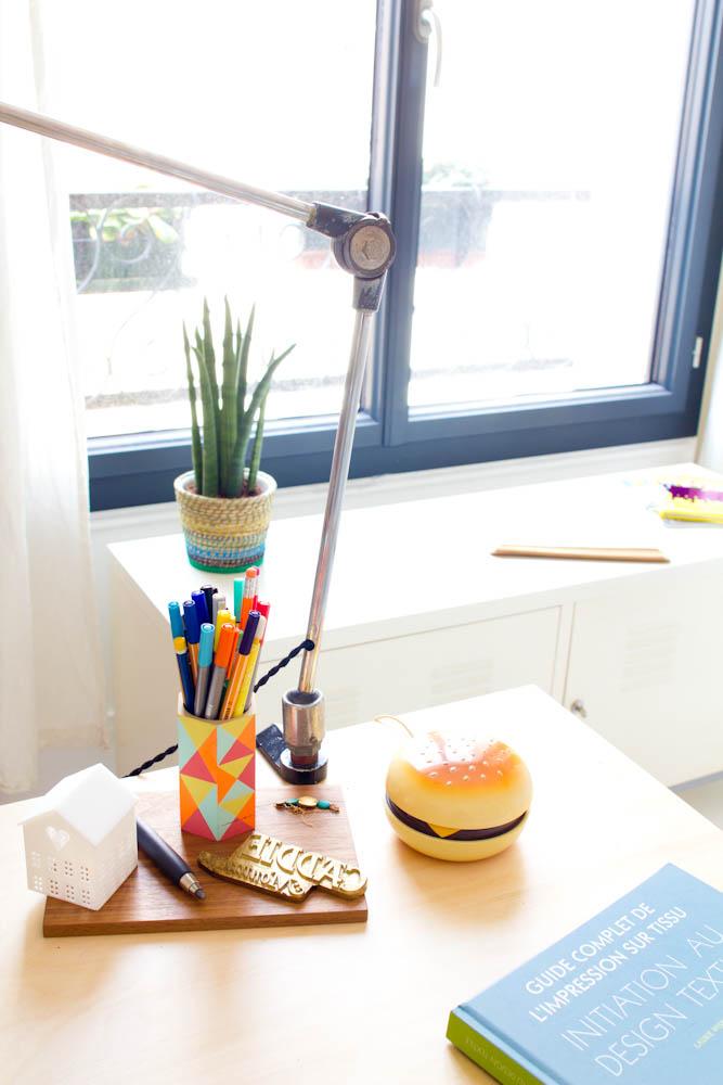 Vert cerise - mon bureau Ikéa à 13 euros. Détails