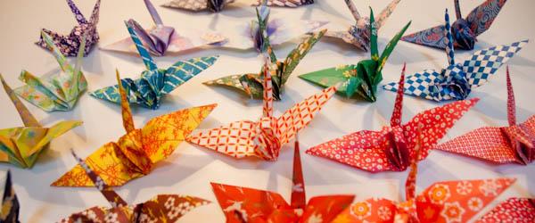 Diy les d cos de noel en origami vert cerise blog for Decoration de noel origami