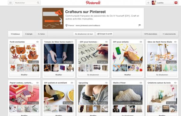 Hub crafteurs Pinterest