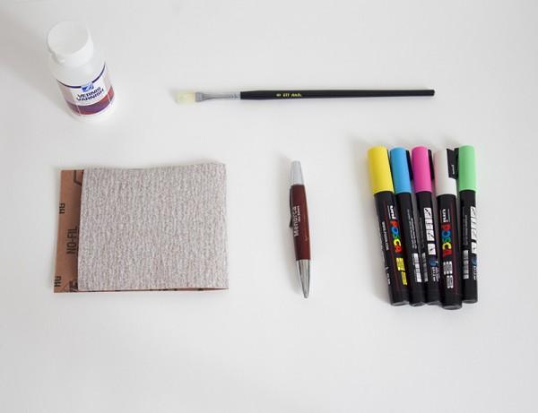 DIY-stylo-vertcerise-materiel