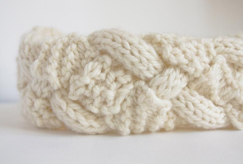 Bandeau en laine DIY Woolkiss by VertCerise