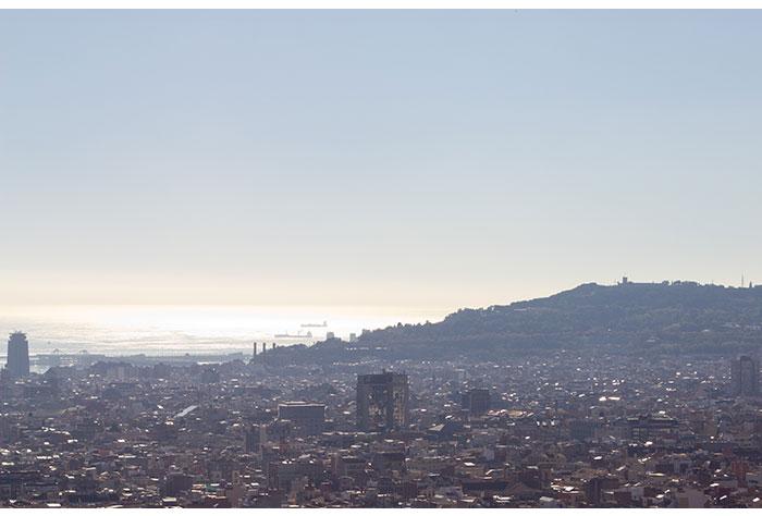 barcelone vue depuis le parc Guel