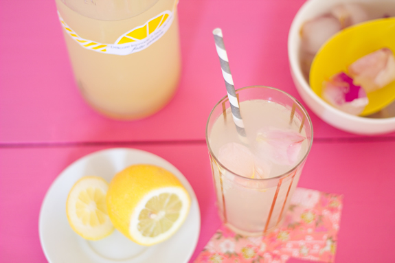 Citronade à l'eau de rose