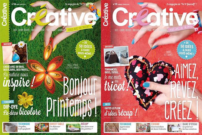 Creative magazine - couverture des derniers numéros