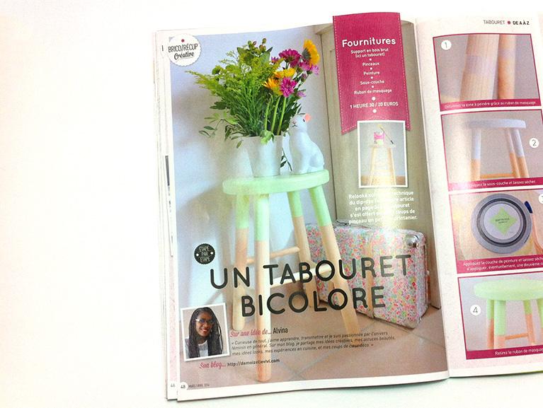 Magazine creative - Tuto tabouret