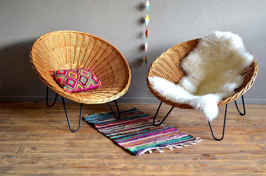 shopping rotin osier vert cerise. Black Bedroom Furniture Sets. Home Design Ideas
